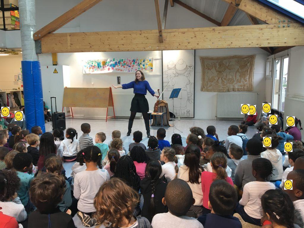 Concert de Camille Fonteneau à l'école des Hautes Bruyères, Villejuif (94), 2018